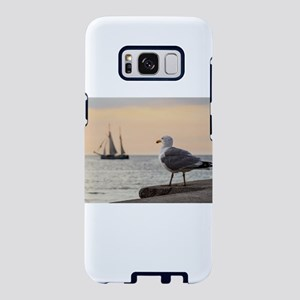 Sea gull and windjammer Samsung Galaxy S8 Case
