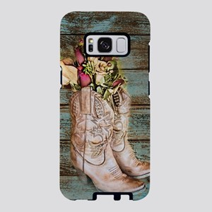 cowboy boots barn wood Samsung Galaxy S8 Case