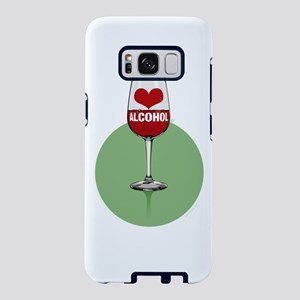 Wine: [love/heart] alcohol Samsung Galaxy S8 Case