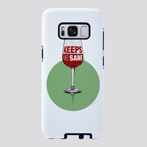 Wine: keeps me sane Samsung Galaxy S8 Case