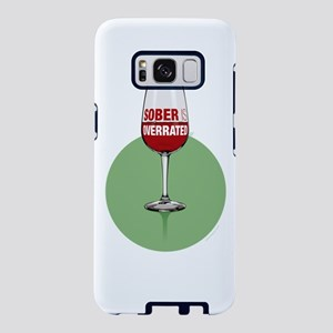 Wine: Sober is overrated Samsung Galaxy S8 Case