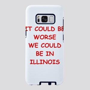 i hate illinois Samsung Galaxy S8 Case