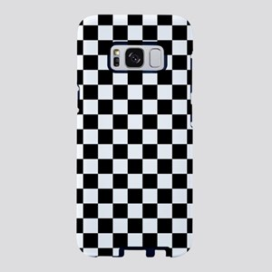 Black and White Checkerboard Samsung Galaxy S8 Cas