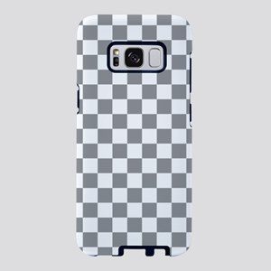 Grey Checkerboard Samsung Galaxy S8 Case