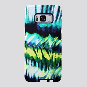 teal tropical leaf watercol Samsung Galaxy S8 Case