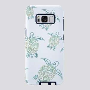 Turtles Pattern Green White Samsung Galaxy S8 Case