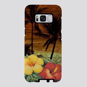 passion flower Palm tree ha Samsung Galaxy S8 Case