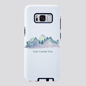 Watercolor Mountains Custom Text Samsung Galaxy S8
