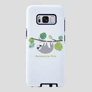 Cute Hanging Sloth Personalized Samsung Galaxy S8