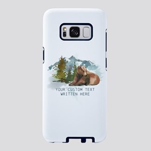 Rustic Mountain Bear Personalized Samsung Galaxy S