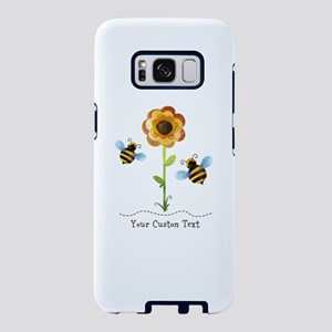 Sunflower Bees Personalized Samsung Galaxy S8 Case