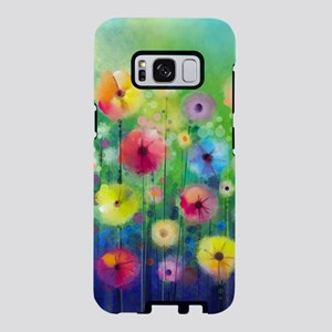Watercolor Flowers Samsung Galaxy S8 Case