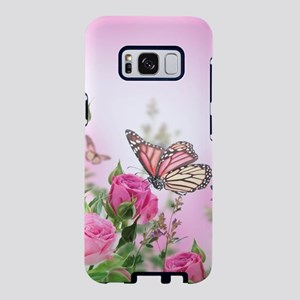 Butterfly Flowers Samsung Galaxy S8 Case