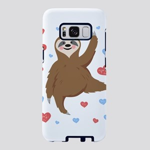Cute and Cuddly Sloth Love Samsung Galaxy S8 Case