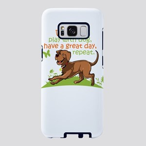 wake up,play with dog,have Samsung Galaxy S8 Case