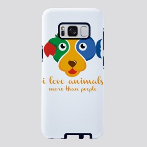 i love animals more than pe Samsung Galaxy S8 Case