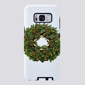 Christmas Wreath with Golde Samsung Galaxy S8 Case