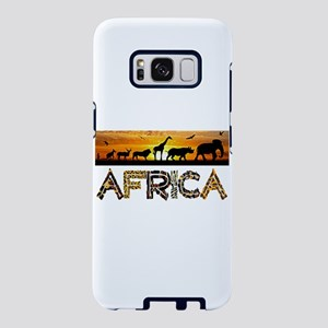 AFRICA TEXT and Animals Aga Samsung Galaxy S8 Case