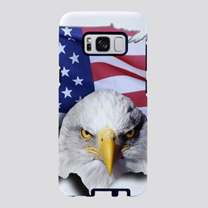 Bald Eagle Over American Fl Samsung Galaxy S8 Case