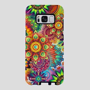 Psychedelic Floral Pattern Red Green Blue Samsung
