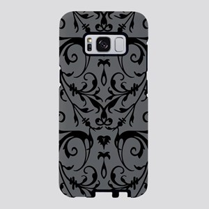 Grey And Black Damask Pattern Samsung Galaxy S8 Ca