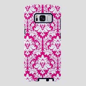 Hot Pink Damask pattern Samsung Galaxy S8 Case