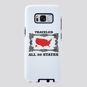 red traveled USA Samsung Galaxy S8 Case