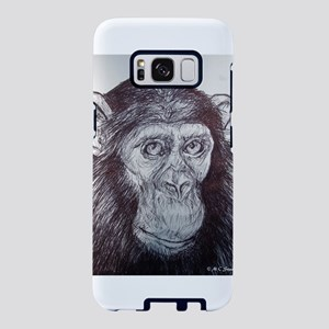 Chimpanzee! wildlife art! Samsung Galaxy S8 Case