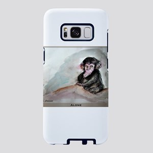 alone, baby chimp art Samsung Galaxy S8 Case
