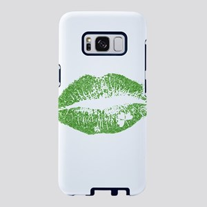 Green Lips & White Irish Sh Samsung Galaxy S8 Case