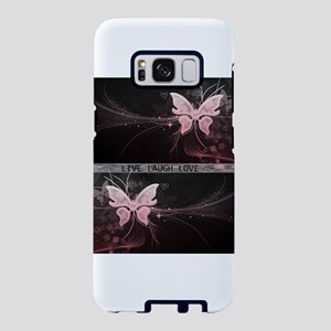 Live laugh love butterfly Samsung Galaxy S8 Case