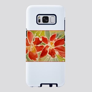 Red orchids! Beautiful art! Samsung Galaxy S8 Case