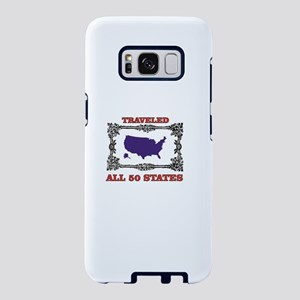 all fifty in blue Samsung Galaxy S8 Case
