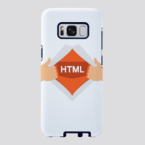 HTML Superhero - Coder Prog Samsung Galaxy S8 Case