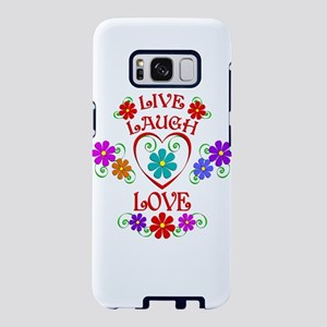 Live Laugh Love Flowers Samsung Galaxy S8 Case