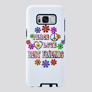 Peace Love Best Friends Samsung Galaxy S8 Case