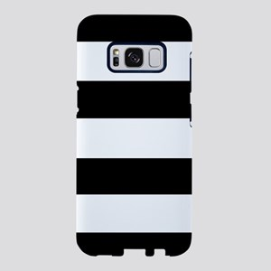 modern black white stripes Samsung Galaxy S8 Case