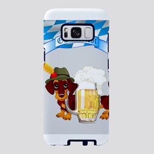 Oktoberfest Daschund with B Samsung Galaxy S8 Case