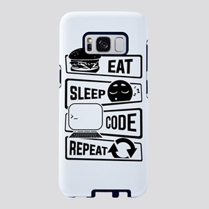 Eat Sleep Code Repeat - Com Samsung Galaxy S8 Case