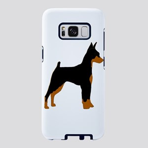 miniature pinscher black and rust silhouette Samsu
