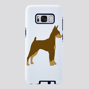 miniature pinscher chocolate and tan silhouette Sa