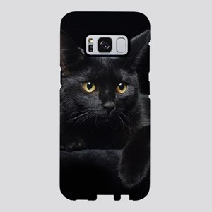 Black Cat Samsung Galaxy S8 Case