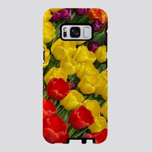 Colorful spring tulips in r Samsung Galaxy S8 Case