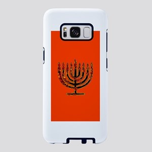 Orange Glowing Menorah Hanu Samsung Galaxy S8 Case