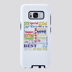 25th Birthday Typography Samsung Galaxy S8 Case