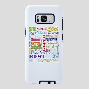 50th Birthday Typography Samsung Galaxy S8 Case