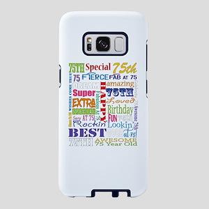 75th Birthday Typography Samsung Galaxy S8 Case