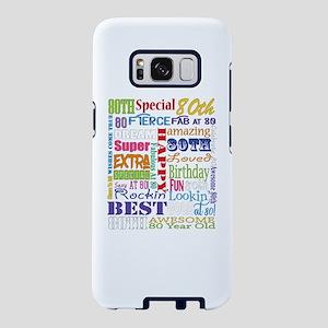 80th Birthday Typography Samsung Galaxy S8 Case