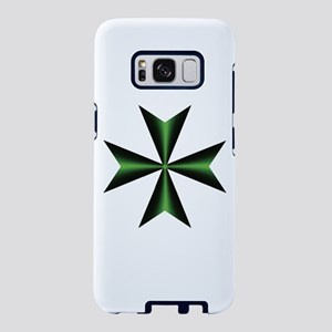 Green Maltese Cross Samsung Galaxy S8 Case