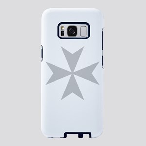 Silver Maltese Cross Samsung Galaxy S8 Case